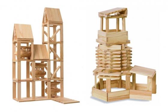 Kapla - 1000 Teile mit Holzkiste 3