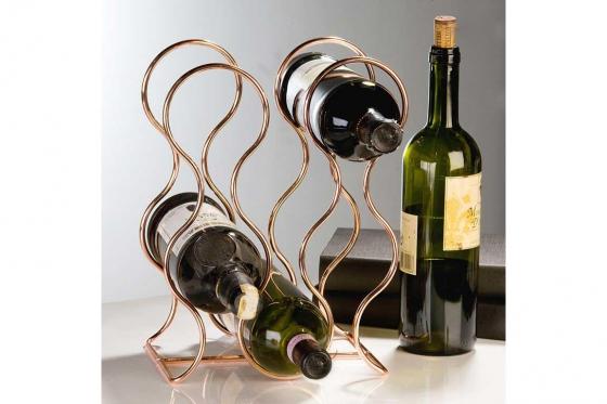 Porte bouteille de vin Norton - Pour 6 bouteilles, fait en cuivre