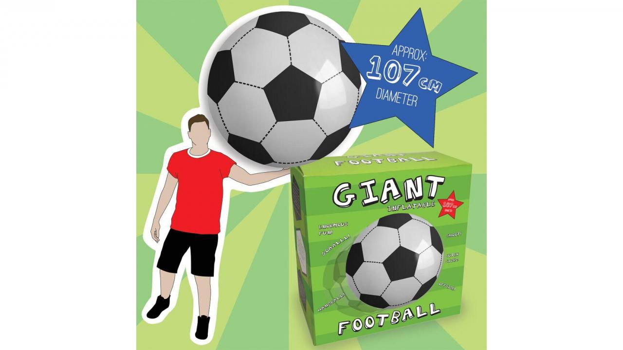 Riesiger fussball for Fussball dummies aufblasbar