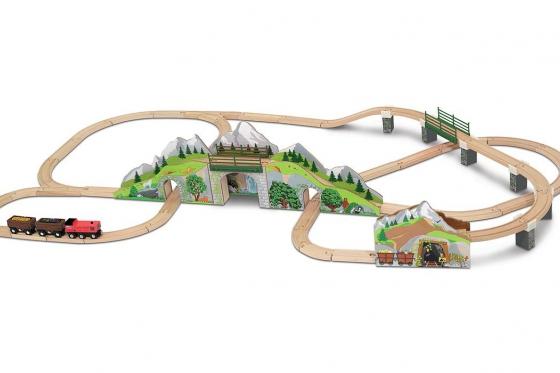 Eisenbahn Set - Bergtunnel, aus Holz