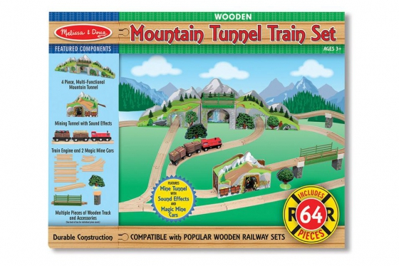 Eisenbahn Set - Bergtunnel, aus Holz 1