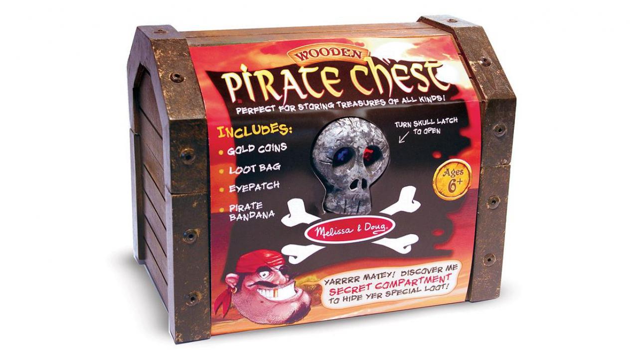 schatztruhe pirat aus holz kidsahoich