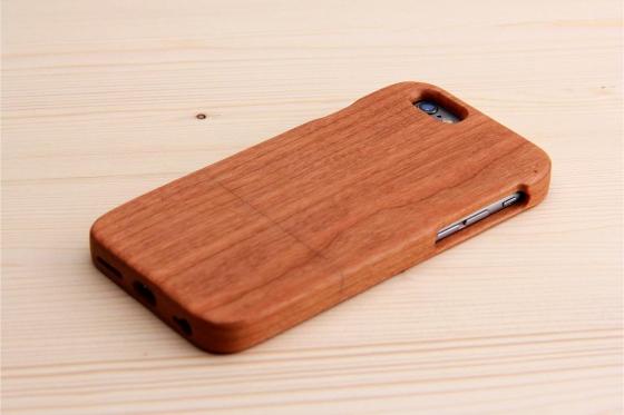 iPhone 6/6S Hard Case - en bois de cerisier