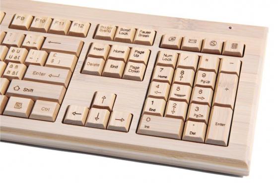 Bambus Tastatur - mit Funkmaus Bambuu 2