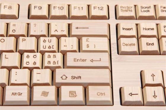 Bambus Tastatur - mit Funkmaus Bambuu 4