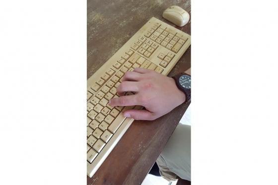 Bambus Tastatur - mit Funkmaus Bambuu 5