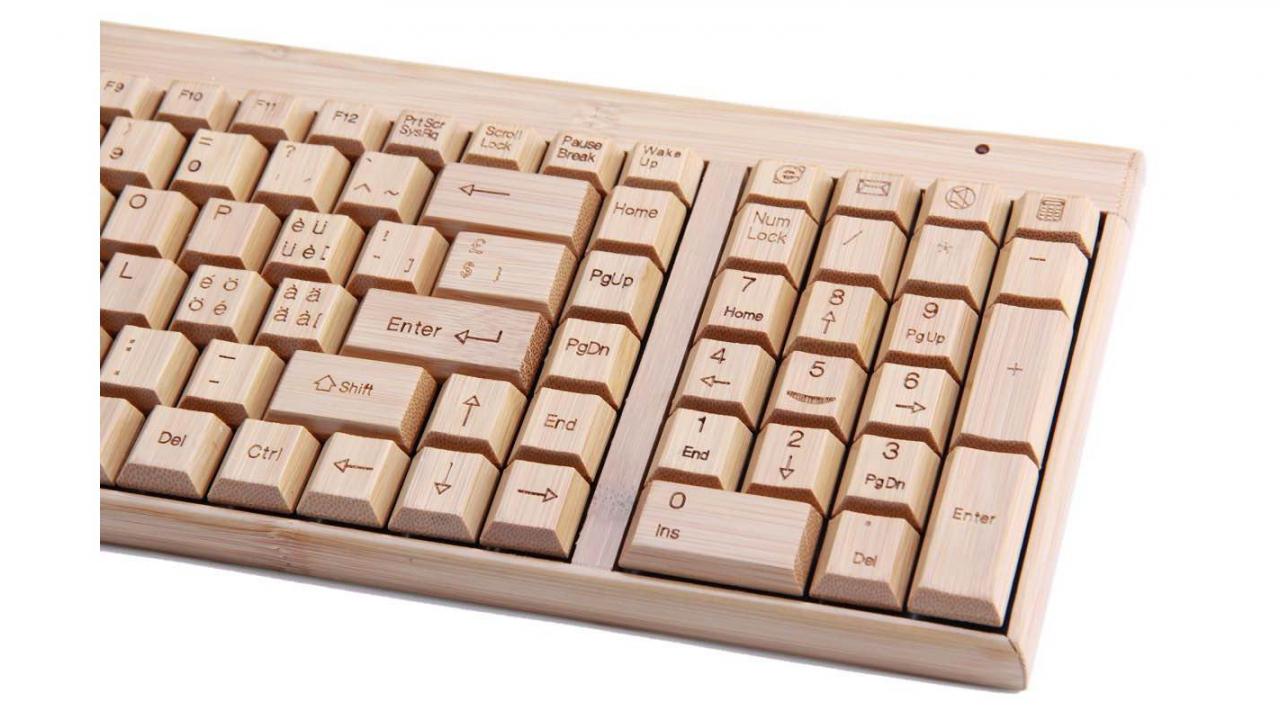 Bambus Tastatur