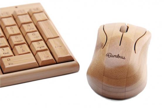 Bambus Tastatur - mit Funkmaus 1