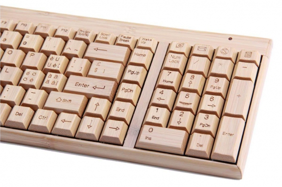 Bambus Tastatur - mit Funkmaus 2