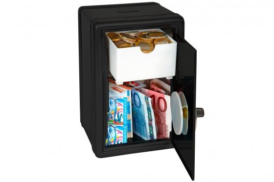 Spardose - Mini Tresor, schwarz 2