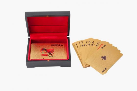 Poker Or 24 Carats - Dans une boîte en bois