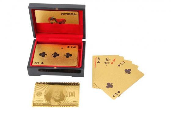 Poker Or 24 Carats - Dans une boîte en bois 2