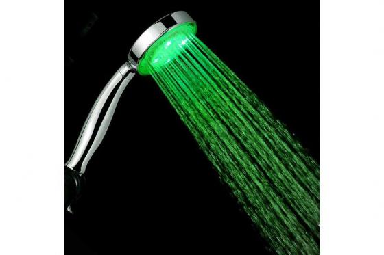 LED Duschkopf - mit Farbwechsel