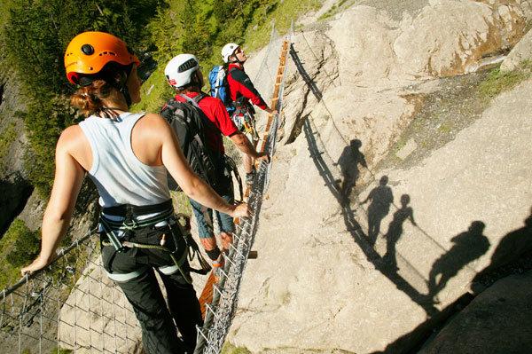 Klettersteig Allmenalp : Klettersteig mit guide