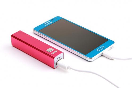 Powerbank für Smartphone - und USB-Geräte - Pink