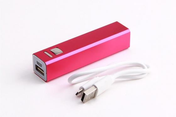 Powerbank für Smartphone - und USB-Geräte - Pink 2
