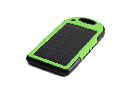 Chargeur solaire vert - Pour Smartphone et accessoires USB
