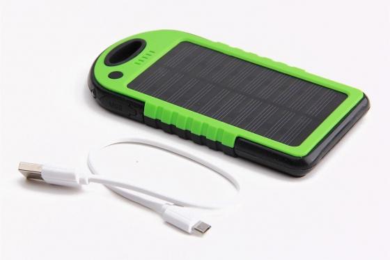 Chargeur solaire vert - Pour Smartphone et accessoires USB 1