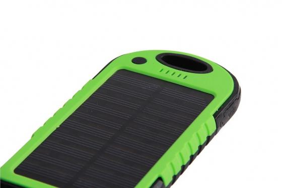 Chargeur solaire vert - Pour Smartphone et accessoires USB 3