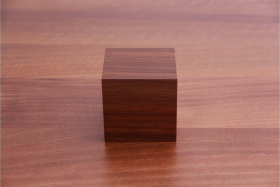 Wooden LED Wecker - The Tiny braun 2