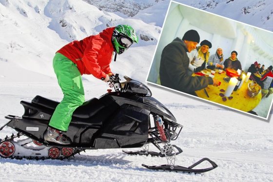 Winter Action in Engelberg - Snowmobile inkl. Fondueplausch  [article_picture_small]