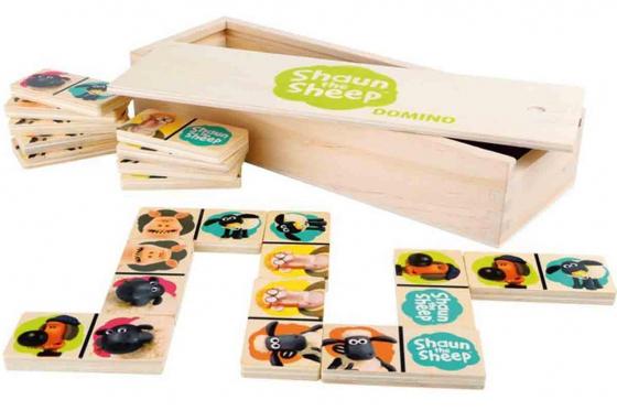 Domino Shaun le mouton - en bois robuste