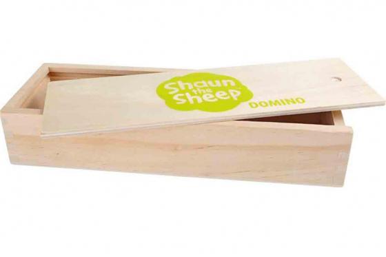 Domino Shaun le mouton - en bois robuste 2
