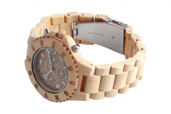 Bambuu Holzuhr - Swiss Chronograph 1