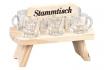 Stammtisch aus Holz - mit 6 Schnapsgläsern  [article_picture_small]