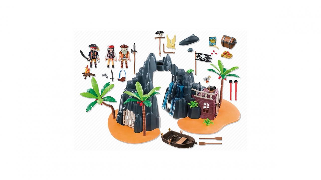 Playmobil piraten schatzinsel for Piraten accessoires kinderzimmer