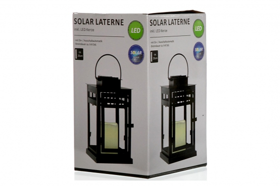 Solar Laterne - inkl. LED Kerze 1