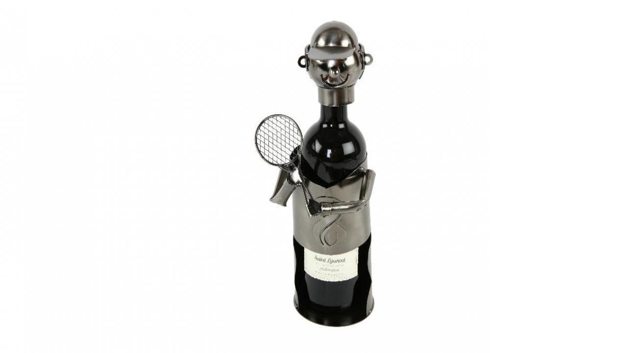 porte bouteille forme joueur de tennis cadeaux24. Black Bedroom Furniture Sets. Home Design Ideas