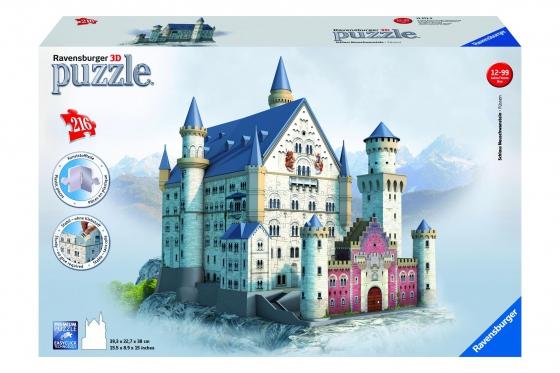 Schloss Neuschwanstein  - 3D Puzzle 216teilig
