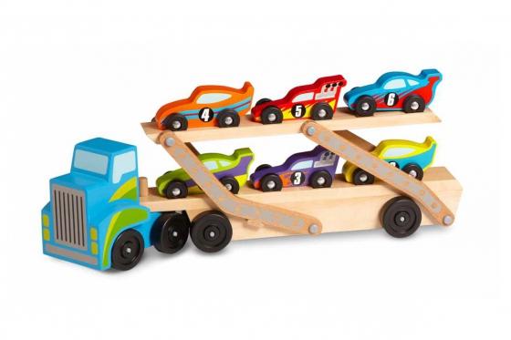 Camion pour bolides - inclus: 6 voitures de course