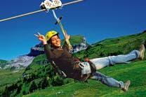 Flying Fox Hoch-Ybrig - Längste Seilrutsche Europas