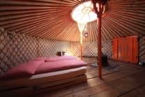 Jurtenübernachtung - Mongolische Jurten als Hotelzimmer