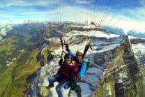 Gleitschirmflug Tandem - über den Glacier 3000