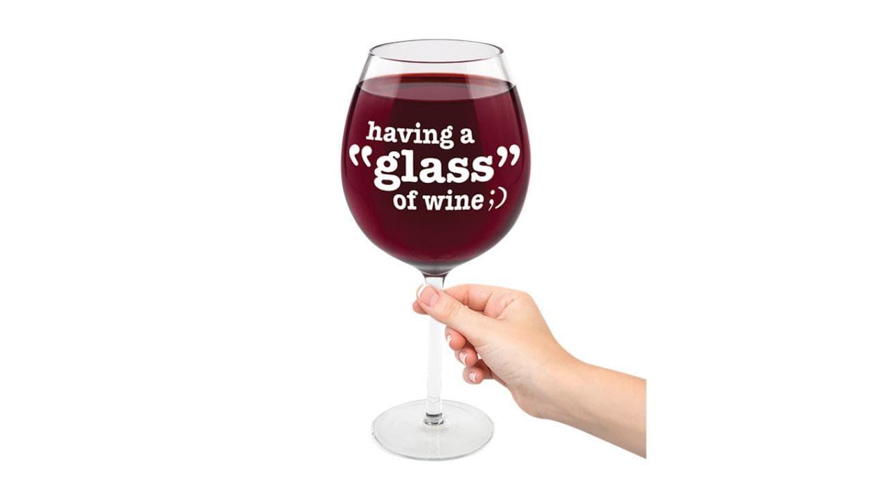 XL Weinglas - Nur ein Glas Wein pro Tag! 1