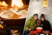 Iglu Abenteuer für 2 Personen - inkl. Fondue, Schlitteln & Schneeschuhlaufen