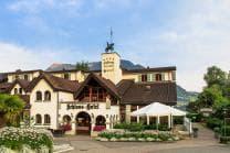 Schloss-Hotel Übernachtung - mit Sicht auf den Vierwaldstättersee