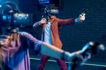 Virtual Reality Spiel - 15 Minuten auf einer omnidirektionalen Plattform | 2 Personen