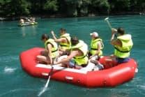 Schlauchboot Fahrt - auf der Aare