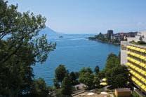 Übernachtung in Montreux - mit Blick auf den Genfersee