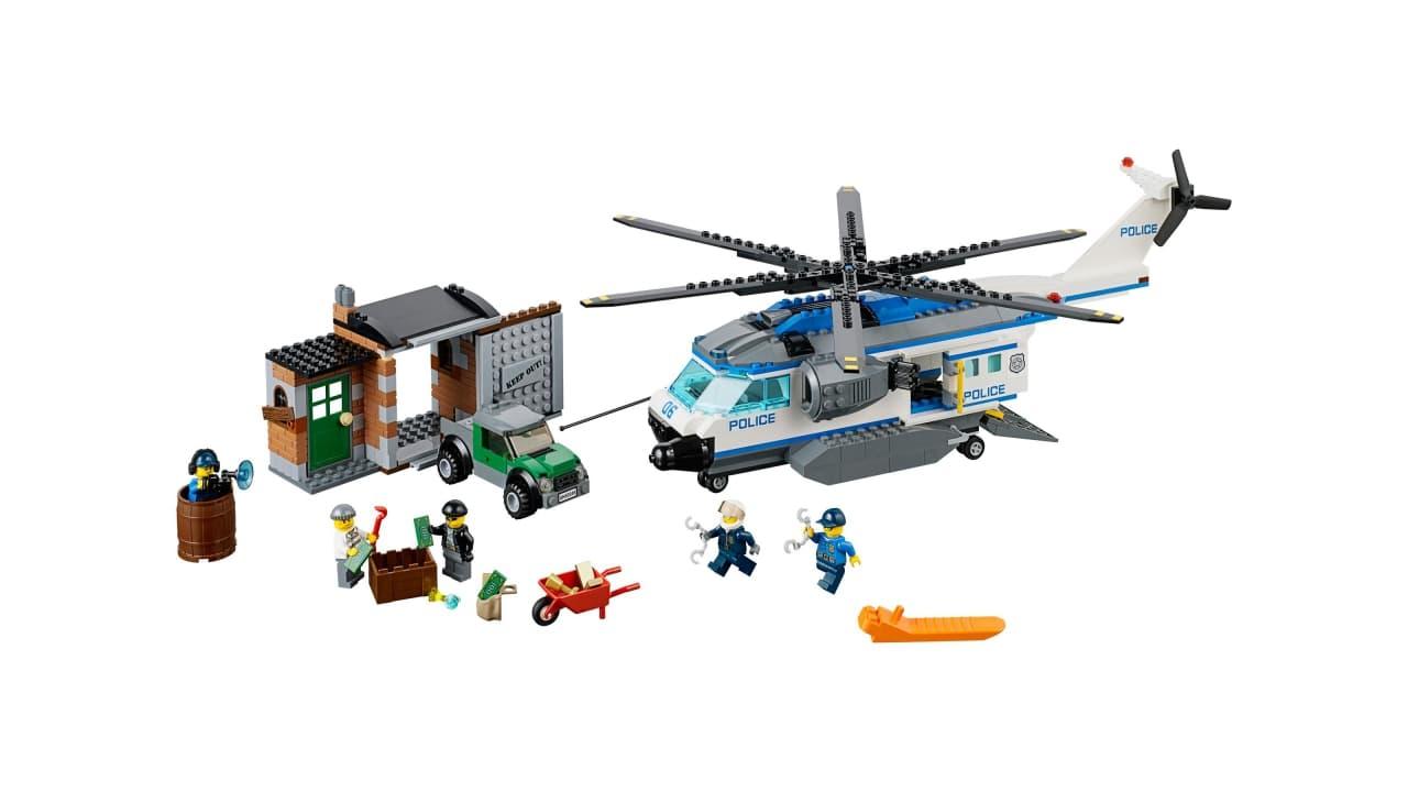 verfolgung mit dem polizeihubschrauber  lego® city 1